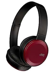JVC HA-S38BT-R ワイヤレスヘッドホン Bluetooth対応/連続17時間再生/バスブースト機能搭載/ハンズフリー通話用マイク内蔵/フラット折りたたみ式/レッド
