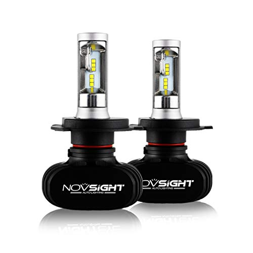 NOVSIGHT H4hi lo 車用ledヘッドライト 50W(25Wx2) 8000LM(4000LMx2) 6500K ファンレス ホウイト 2個セット