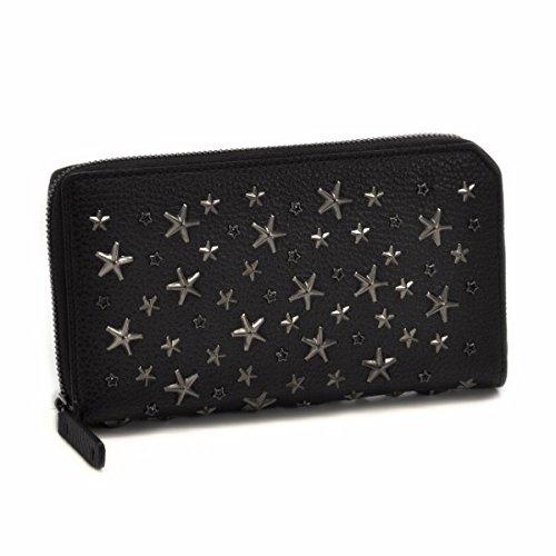 Jimmy Choo(ジミーチュウ) 財布 メンズ GRAINY CALFW/CRYSTAL STARS ラウンドファスナー長財布 ブラック CARNABY-GRY-0001 [並行輸入品]