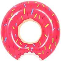 [rootQ] 浮き輪 ドーナツ 直径 60cm 90cm 120cm 子供用 大人用 プール 海 ドーナツフロート (90cm, ストロベリー) [並行輸入品]