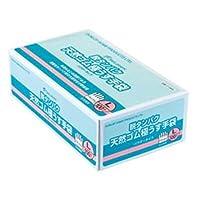 【ケース販売】 ダンロップ 脱タンパク天然ゴム極うす手袋 L ナチュラル (100枚入×20箱)