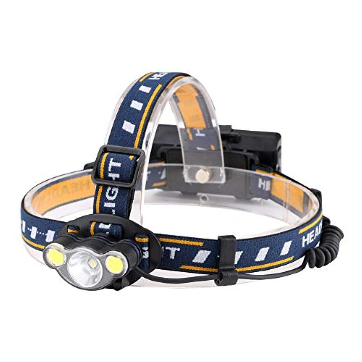 禁止起きろ実行する発信スタイルの楽しみサイクリングキャンプ用LED + COBヘッドランプヘッドライト充電式ライトUSBケーブル