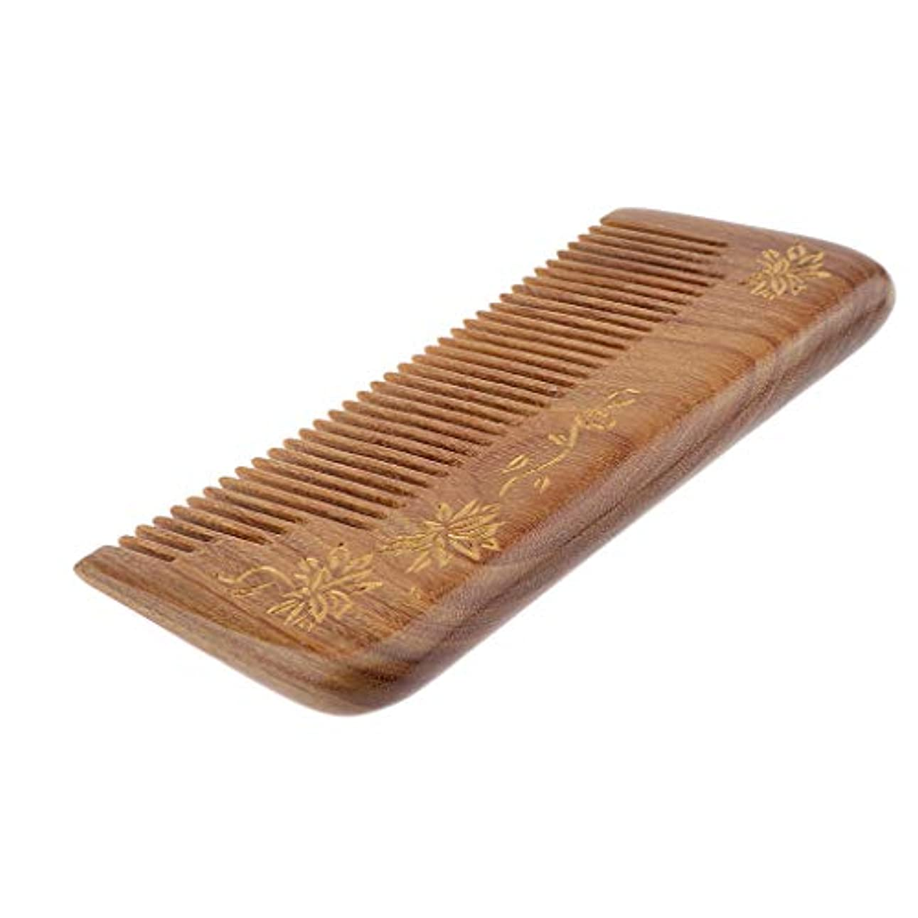 幸運な支配的落ち着いて帯電防止櫛 ヘアブラシ 木製櫛 広い歯 自然な木 マッサージ櫛 プレゼント 4仕様選べ - #3