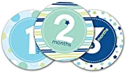 Pearhead First Year Monthly Milestone Belly Stickers, Blue