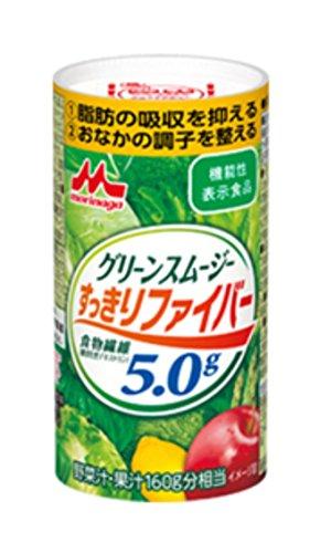 森永乳業【機能性表示食品】 グリーンスムージーすっきりファイバー 125ml×18本入り
