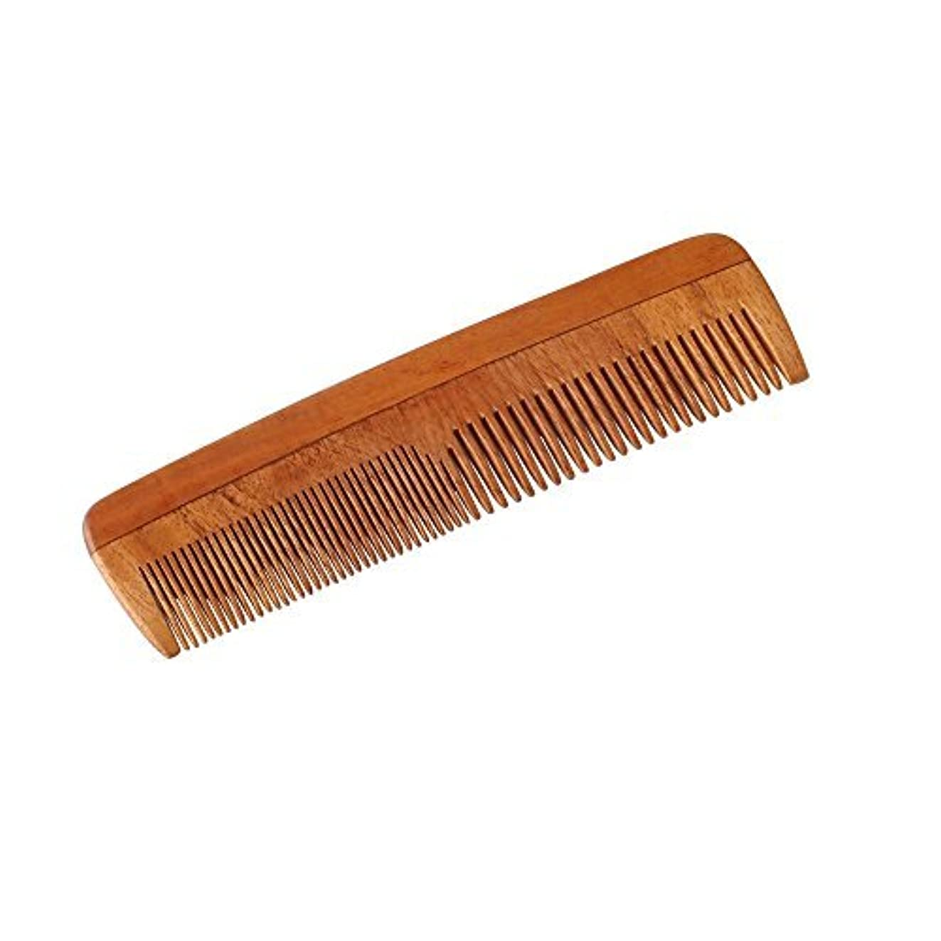 見捨てられたフォーク放射能HealthAndYoga(TM) Handcrafted Neem Wood Comb - Non-Static and Eco-Friendly- Great for Scalp and Hair Health -7...