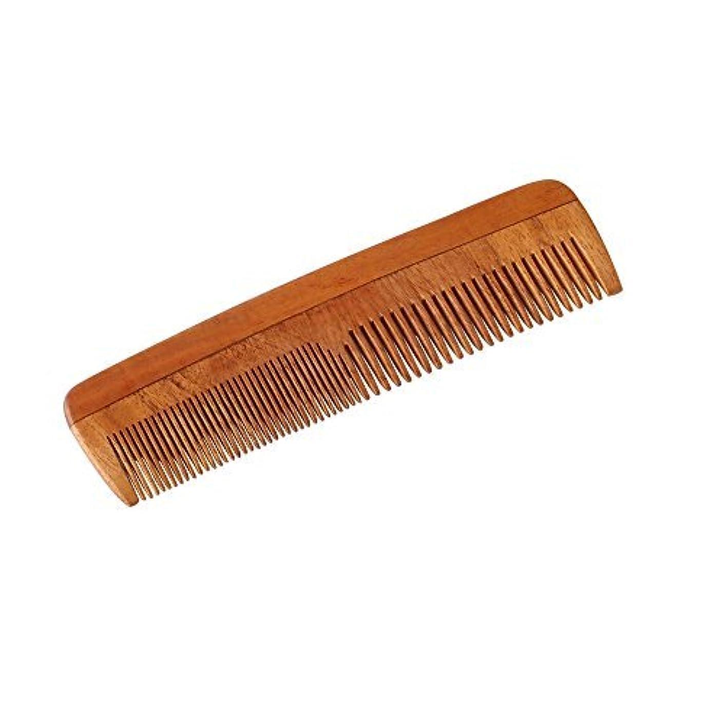 療法侵入する好意HealthAndYoga(TM) Handcrafted Neem Wood Comb - Non-Static and Eco-Friendly- Great for Scalp and Hair Health -7...