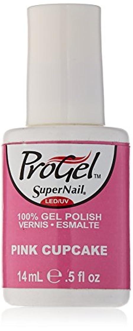 見分ける我慢する弾力性のあるSuperNail ProGel Gel Polish - Pink Cupcake - 0.5oz / 14ml