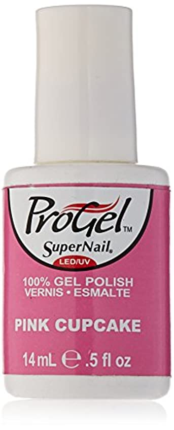 ほんの騙す変更可能SuperNail ProGel Gel Polish - Pink Cupcake - 0.5oz / 14ml