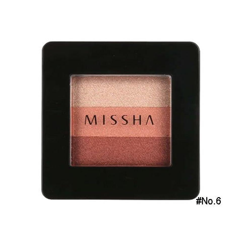 手のひらオール比べるミシャ(MISSHA) トリプルシャドウ 2g No.6(マルサラレッド) [並行輸入品]