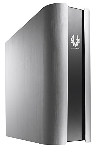 BitFenix Pandora Silver フロントロゴが変更できるTFT液晶搭載 スリム型PCケース CS4947 BFC-PAN-300-KSXL1-RP