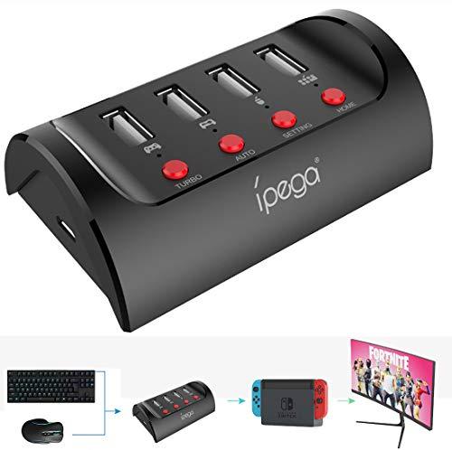 Switch コントローラー 変換アダプター Nintendo Switch/PS4/X1用キーボードマウス接続アダプタ 同時接続可能