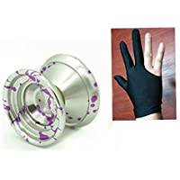 MAGICYOYO Leopard K8 Big New Ball (K8 Silver splash Purple) with Yoyo glove+Strings by MAGICYOYO [並行輸入品]