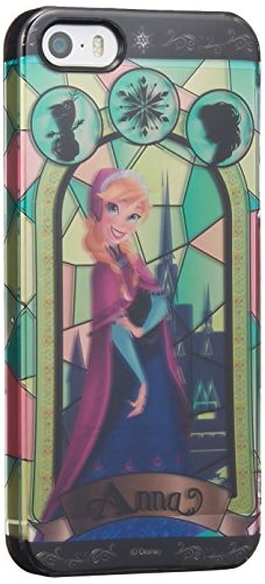 スタンド崇拝します皮グルマンディーズ ディズニー アナと雪の女王 ステンドグラス柄 iPhone5s/5対応 シェルジャケット アナ DN-190A