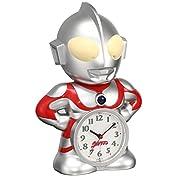 セイコー クロック 目覚まし時計 ウルトラマン キャラクター型 おしゃべり アラーム アナログ JF...