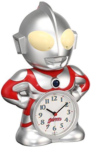 セイコー クロック 目覚まし時計 ウルトラマン キャラクター型 おしゃべり アラーム アナログ JF336A SEIKO