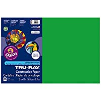 Tru-Ray Construction Paper, 76 lbs., 12 x 18, Festive Green, 50 Sheets/Pack (並行輸入品)