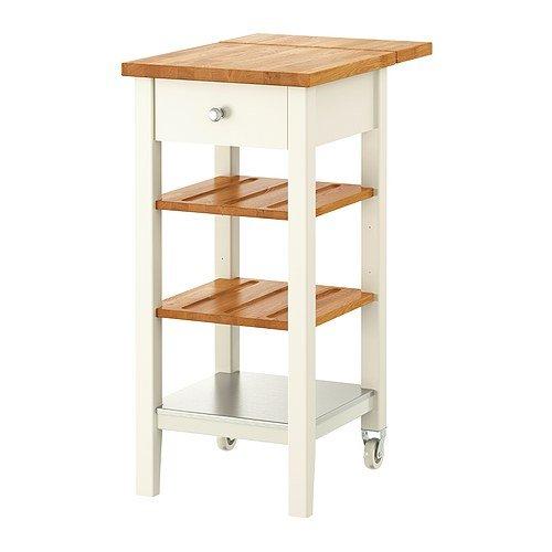 IKEA(イケア) STENSTORP 20201917 キッチンワゴン, ホワイト, オーク