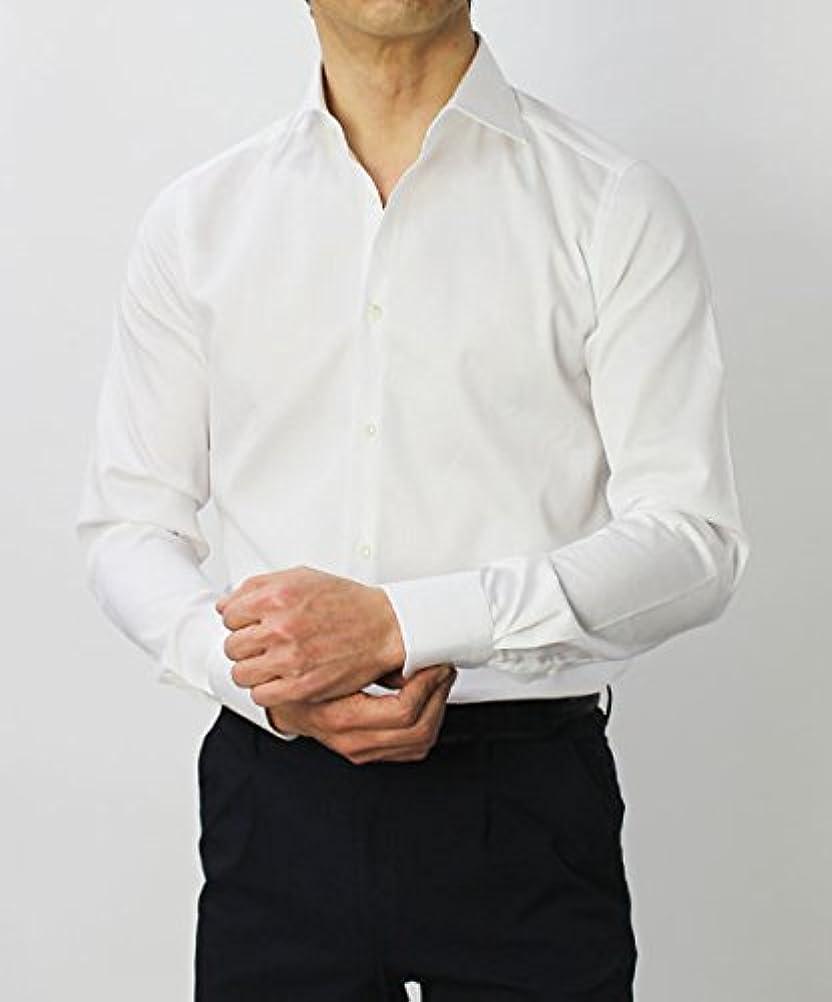 鎮静剤膨張するロマンチックGUY ROVER コットン セミワイド ドレス シャツ 40,ホワイト [並行輸入品]