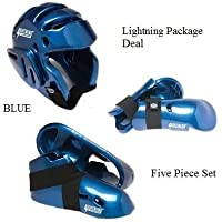 Lightningブルー空手Sparring Gear Package Deal – Child Medium