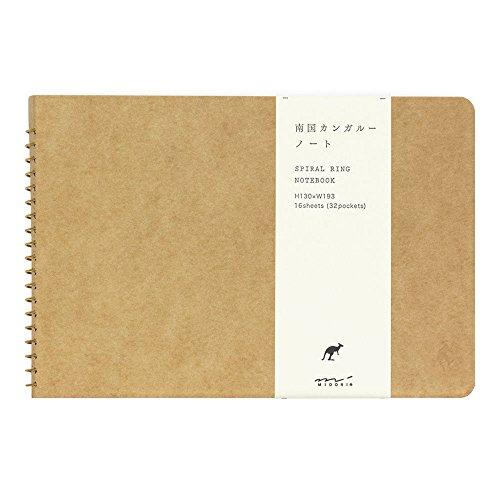ミドリ ノート スパイラルリングノートB6  ポケット 南国カンガルー柄 15039006