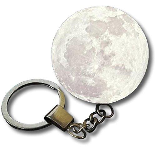 ZooooM 光る 満月 デザイン ライト キーホルダー 可愛い 月 面白 おもしろ LED かわいい おしゃれ リング 宇宙 カッコイイ 格好いい キーリング 大人 ファッション メンズ 男性 レディース 女性 ストラップ まとめ 鍵 キー 小物 便利 お洒落 ポケット サイズ ZM-KEY7864