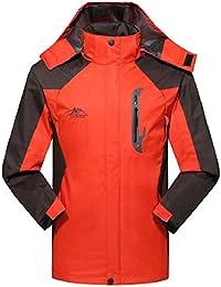 gawaga メンズクラシック防水ジャケット軽量屋外ウールフードジャケット