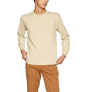 [ヘインズ] Tシャツ Beefy ロングスリーブ H5186 メンズ ベージュ 日本 M (日本サイズM相当)