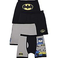 DC Comics Batman Logo Boys Boxer Brief Cotton 2pack Underwear, Multicolored, 2T/3T