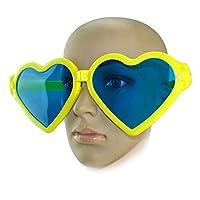Kicode ハート型 ファッションオーバーサイズ サングラス 愛の眼鏡 好意写真のため クリスマスパーティー