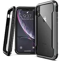 iPhone XR Case, X-Doria ディフェンス シールド シリーズー  軍用規格レベルの落下 テストをクリア, アルミ , TPU(  熱可塑性ポリウレタン樹脂 ),  Apple iPhone XR 用ポリカーボネート保護ケース, ブラック