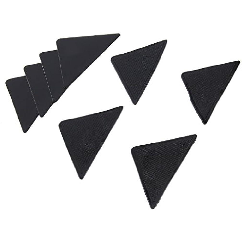 レインコート固執腫瘍4 pcs Rug Carpet Mat Grippers Non Slip Anti Skid Reusable Silicone Grip Pads