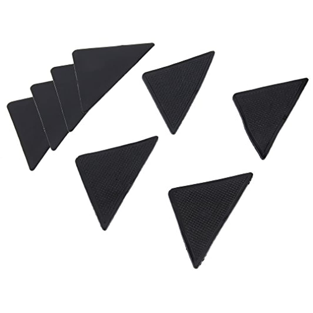 概して決定的簡単な4 pcs Rug Carpet Mat Grippers Non Slip Anti Skid Reusable Silicone Grip Pads