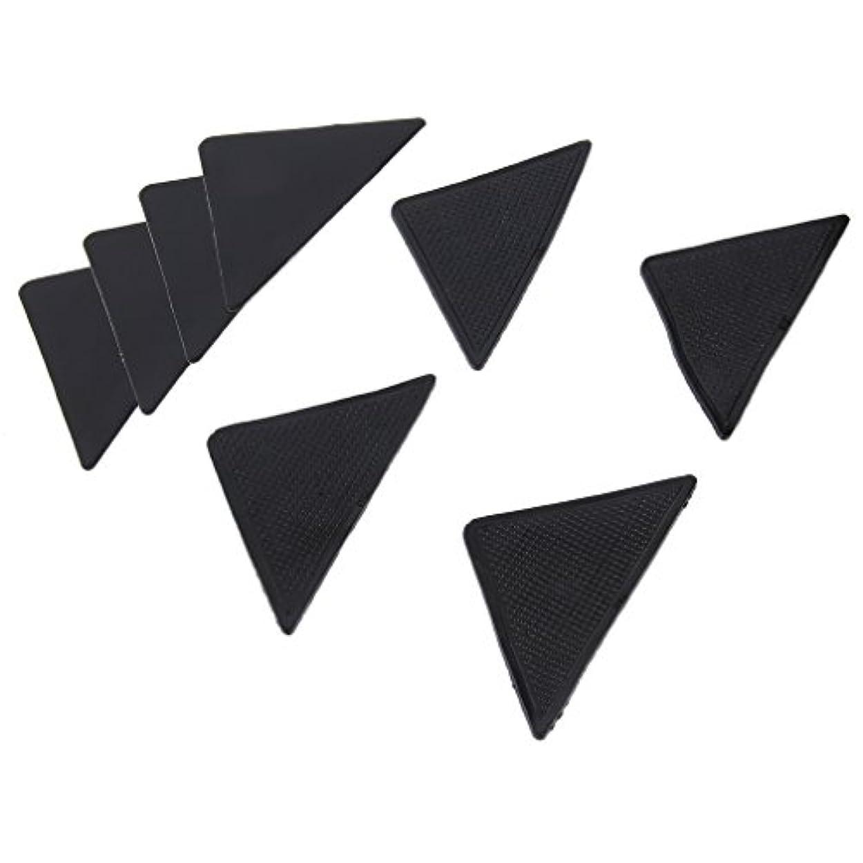 ゴールデン納得させるグリット4 pcs Rug Carpet Mat Grippers Non Slip Anti Skid Reusable Silicone Grip Pads