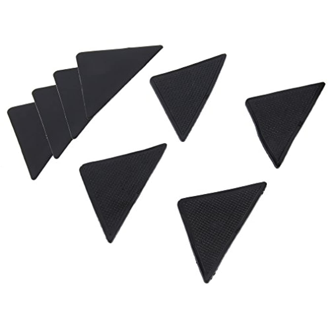 遺伝的お父さん違反する4 pcs Rug Carpet Mat Grippers Non Slip Anti Skid Reusable Silicone Grip Pads