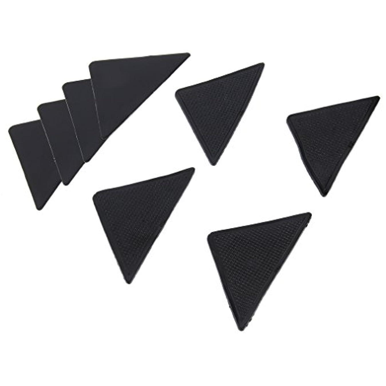鋸歯状高価な理解する4 pcs Rug Carpet Mat Grippers Non Slip Anti Skid Reusable Silicone Grip Pads