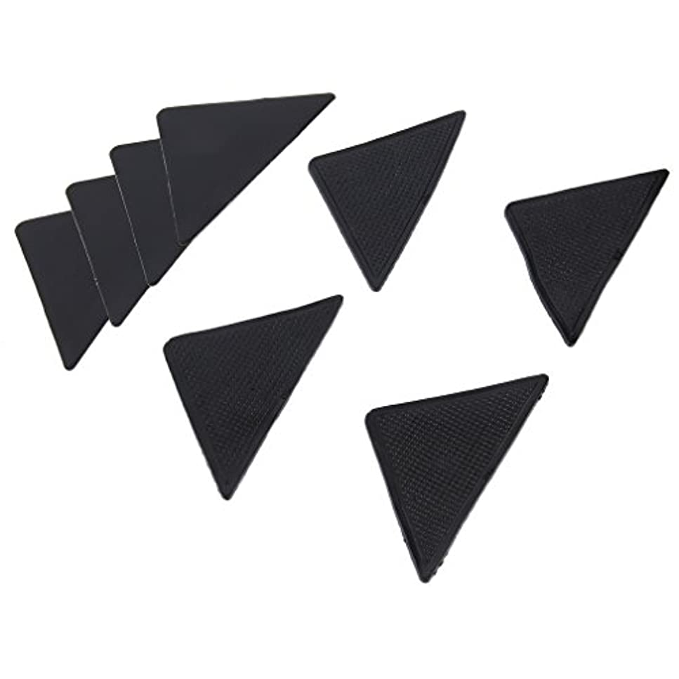 分離する遺跡対角線4 pcs Rug Carpet Mat Grippers Non Slip Anti Skid Reusable Silicone Grip Pads