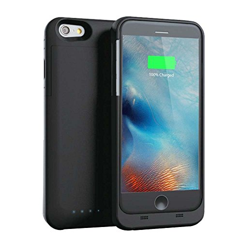COOLEAD 【Apple認証 (Made for iPhone取得)】【Maxnon】スリムバッテリーケース iPhone 6 plus/iPhone 6s plus用 4000mAh 緊急充電(MFI ブラック)