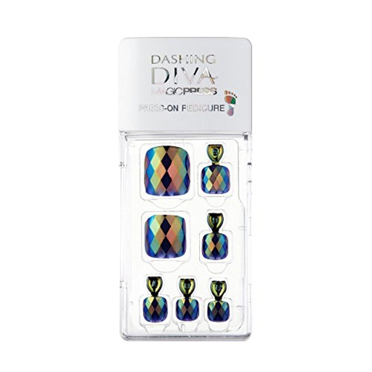 上昇青写真モディッシュダッシングディバ マジックプレス DASHING DIVA MagicPress MDR174P-DURY+ オリジナルジェル ネイルチップ