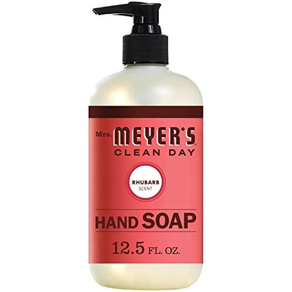 とげ集まる個人Mrs. Meyers Clean Day, Liquid Hand Soap, Rhubarb Scent, 12.5 fl oz (370 ml)