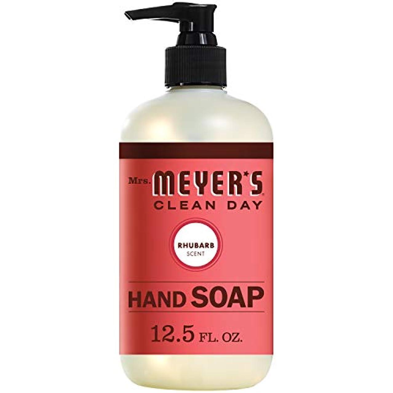 道徳教育延ばす反射Mrs. Meyers Clean Day, Liquid Hand Soap, Rhubarb Scent, 12.5 fl oz (370 ml)