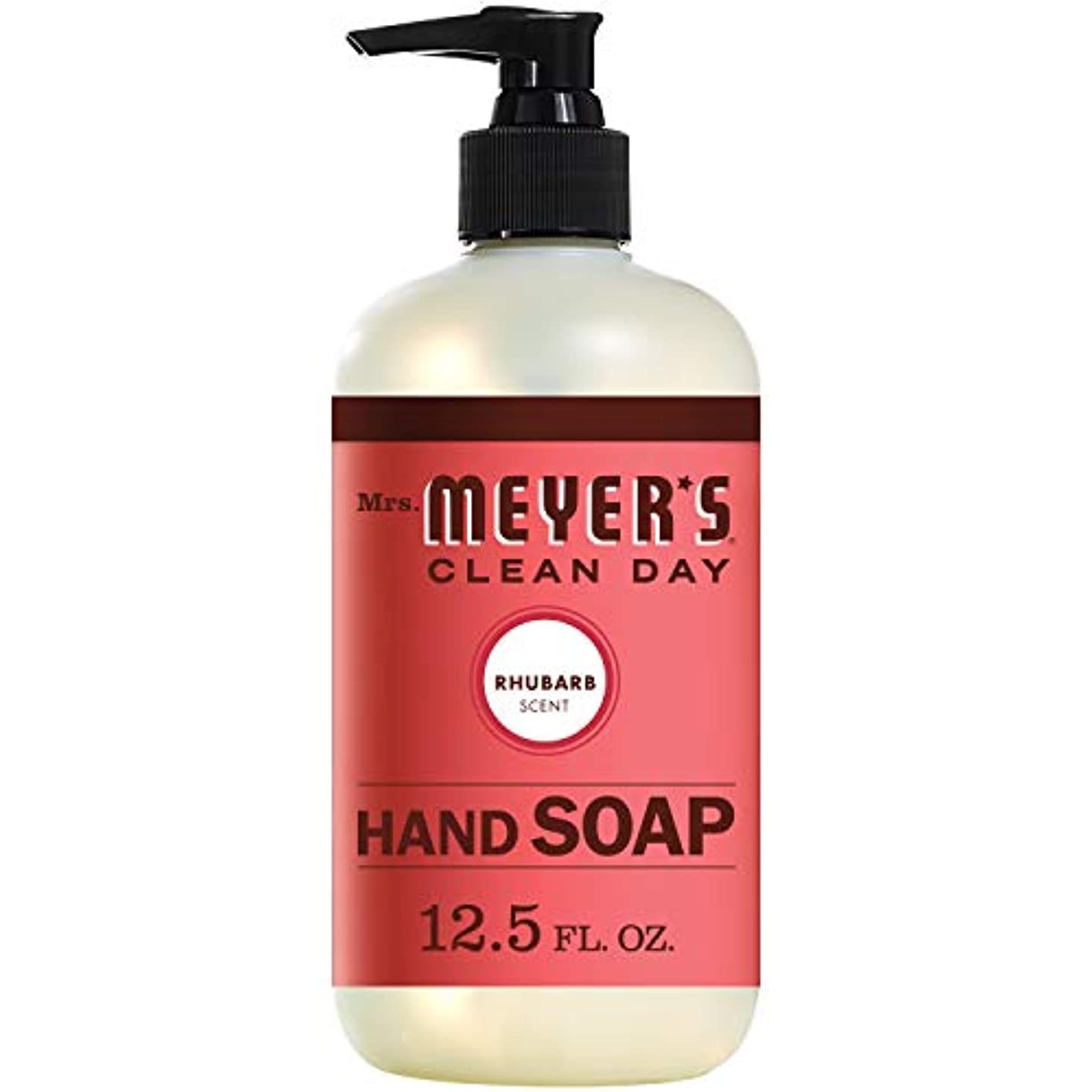 高い入浴アライアンスMrs. Meyers Clean Day, Liquid Hand Soap, Rhubarb Scent, 12.5 fl oz (370 ml)