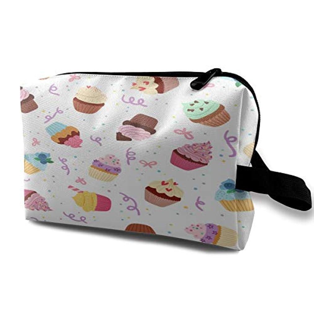 争うトピックミュージカルLittle Delicious Cupcakes 収納ポーチ 化粧ポーチ 大容量 軽量 耐久性 ハンドル付持ち運び便利。入れ 自宅?出張?旅行?アウトドア撮影などに対応。メンズ レディース トラベルグッズ