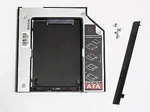 MacLab. 光学ドライブをHDDやSSDに置き換えるためのキット セカンドHDDアダプター <12.7mm厚のSlimlineSATAドライブを搭載したノートPC対応>【相性保証付き】