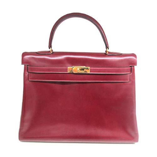 [エルメス] HERMES ケリー35 内縫い ハンドバッグ ルージュアッシュ(ゴールド金具) ボックスカーフ [中古]