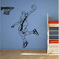 Jason Ming Basketball Player Sticker Sports Decal Posters Vinyl Wall Decals Decor Mural Basketball Sticker 58X70Cm
