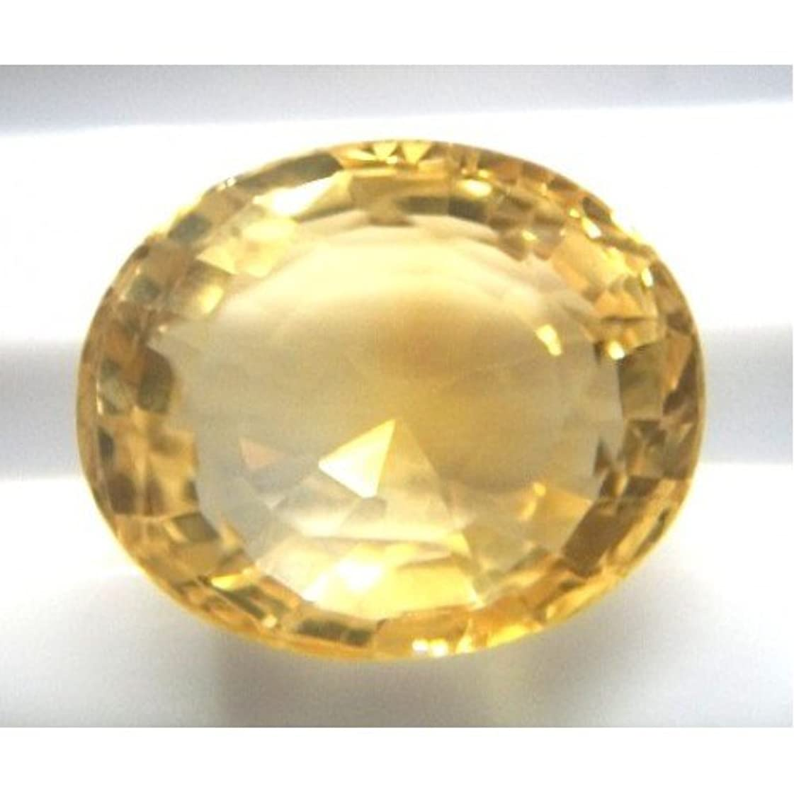 緑遺棄された飛行機sunela石元Certified Natural Citrine Gemstone 13.9 Carat By gemselect