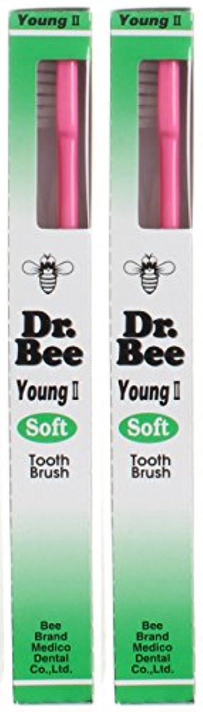遅い分解する静脈ビーブランド Dr.Bee 歯ブラシ ヤングII ソフト【2本セット】