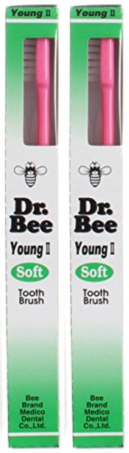 晩ごはん飼い慣らすパラダイスビーブランド Dr.Bee 歯ブラシ ヤングII ソフト【2本セット】