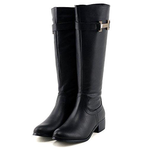 (フェリシア フェリーチェ)Felicia Felice シックな金具デザインのロングブーツ 23.0cm ブラック 黒